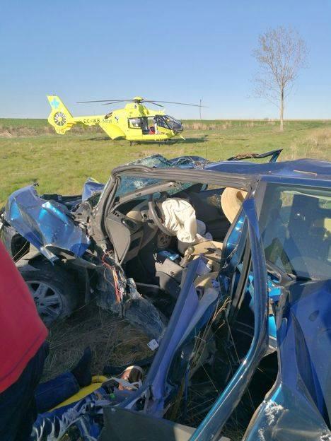 Accidente en Villamarco (León) el 6 de abril. Foto: La Crítica
