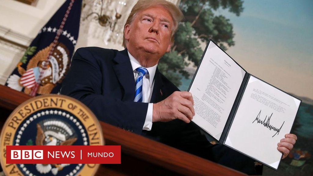 Donald Trump, presidente de los EEUU, relanza las sanciones contra Irán. (Foto:www.bbc.com)