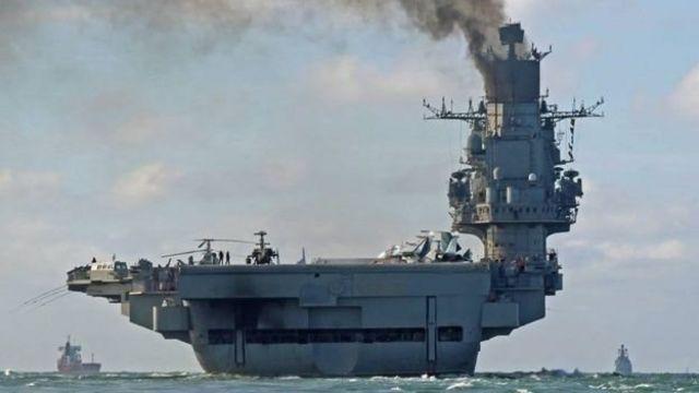 Una flotilla rusa en el Mediterráneo en dirección a Siria. (Foto: www.bbc.com).