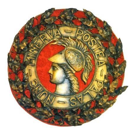 Rosetón que adornaba el fronstispicio de la Real Academia Militar de Matemáticas  en Barcelona. Representa a la diosa Minerva. (http://www.altorres.synology.me/02_03_barcelona.htm)