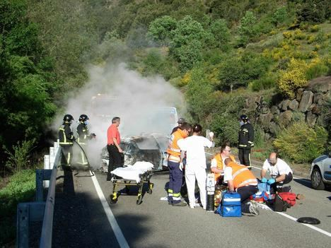 Accidente de tráfico. (Archivo de La Crítica)