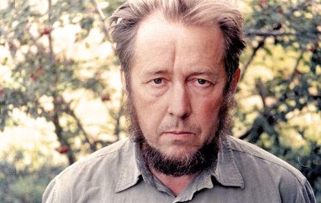 Aleksandr Isáyevich Solzhenitsyn (1918 2008). Premio Nobel de Literatura en 1970.