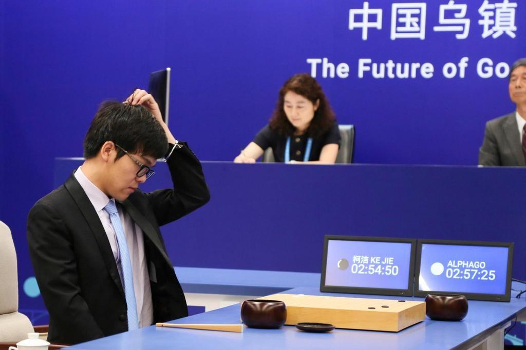 Victoria del ordenador de IA AlphaGo frente al campeón del mundo de Go, Lee-Se-dol, en 2017. (Foto: https://www.nytimes.com/ REUTERS).