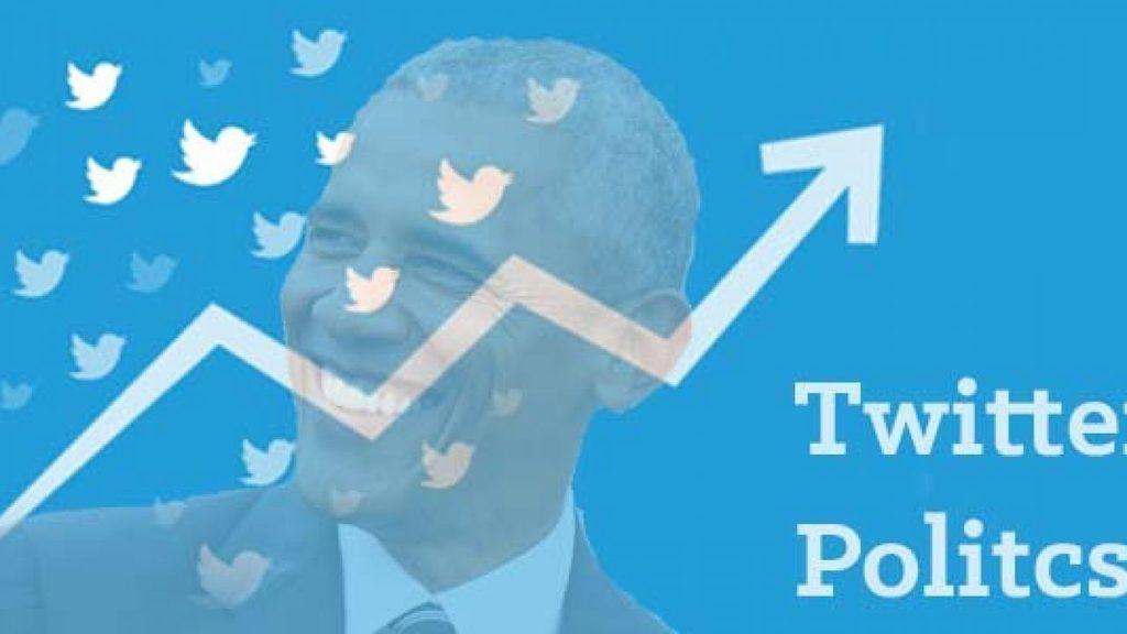 Barack Obama en Twitter desde 2008. (Ilustración https://www.tweetbinder.com/blog)