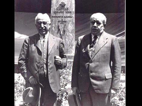 Niceto Alcalá Zamora y Manuel Azaña Díaz, prohombres de la Segunda República.