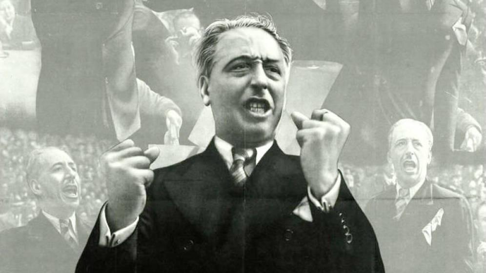 Lluís Companys, condenado por rebelión durante la II Reública, en un cartel de la Guerra Civil. (Foto: El Confidencial 26.9.2017)