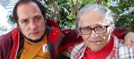 David Fernández (CUP) y el catedrático Ramón Cotarelo