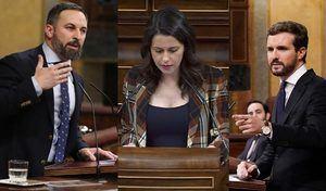 Abascal, Arrimadas y Casado. (Imagen: Blog de Xavier Casals)