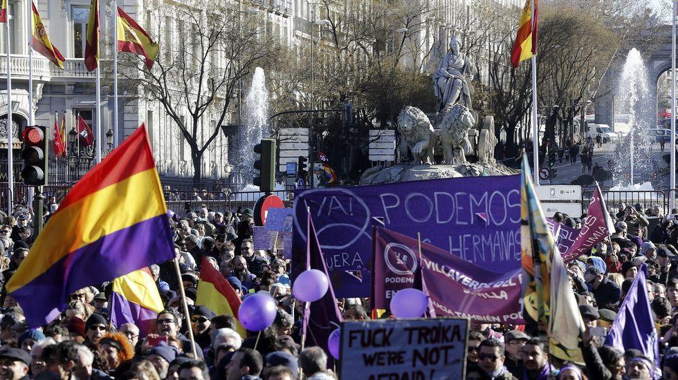 Demostración de fuerza de Podemos en Madrid el pasado mes de enero (EFE)