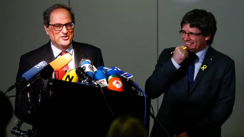 Quim Torra y Carles Puigdemont: todo es posible en España. (Foto: El Confidencial).