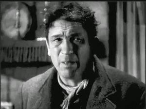 Victor McLaglen interpretando a Gypo en 'El delator' de John Ford (1935).