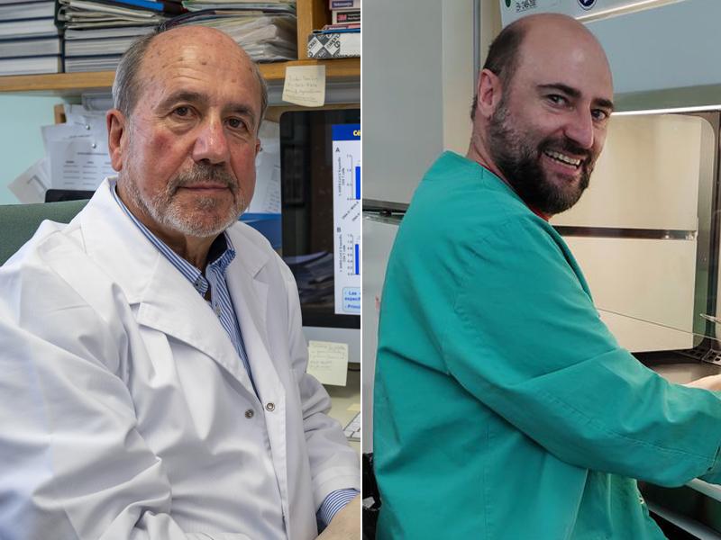 Mariano Esteban y Juan García Arriaza, virólogos del CNB-CSIC. (Foto: CSIC Comunicación)