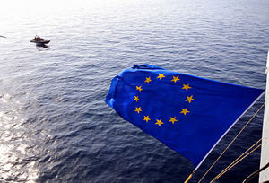 Bandera de la UE. Foto: European Union Naval Force / Flickr. CC BY-ND 2.0.