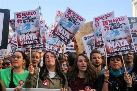 Manifestación juvenil del 15 de marzo de 2019 en Madrid. (Foto: Europa Press)