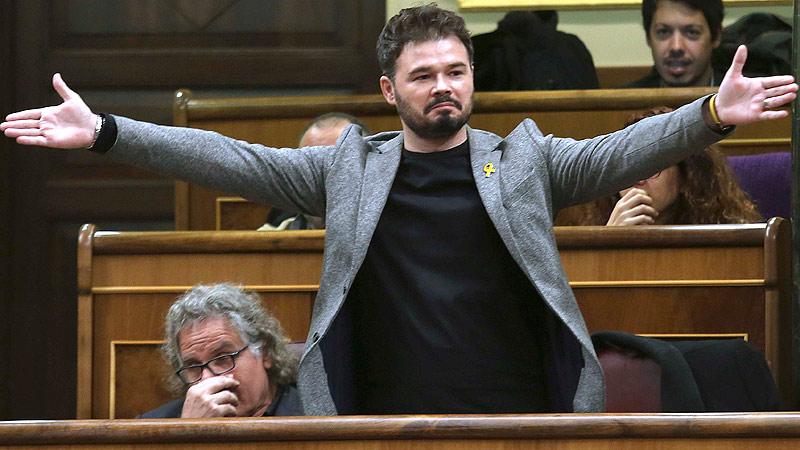 Gabriel Rufián, un golpista faltón amamantado por el Estado Español. (Foto: El Periódico / La Vanguardia)
