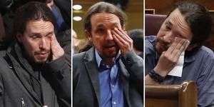 Pablo Iglesias lloriqueando. (Ilustración: Periodista Digital).