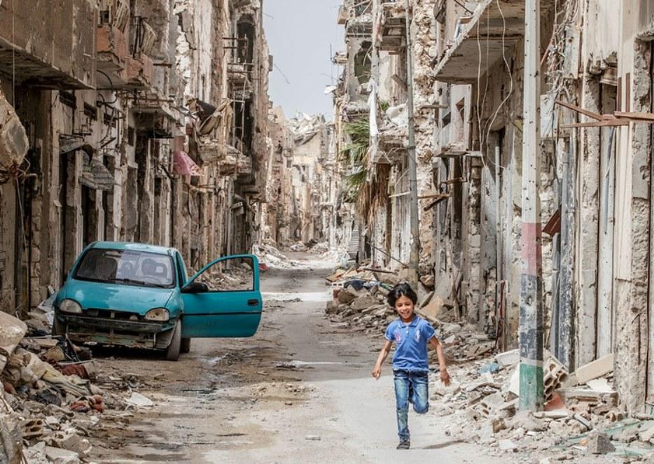 La ciudad libia de Benghazi reducida a escombros. (Foto: UNICEF/Giovanni Diffidenti).