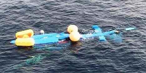 Imagen del helicóptero Dauphin accidentado. (Foto: La Crítica).