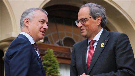 Los 'presidentes' Íñigo Urkullu y Quim Torra. (Foto: El Periódico)