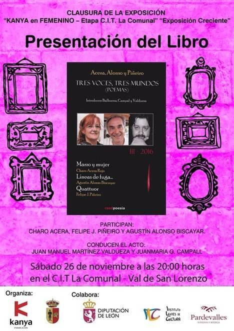 Tres voces, tres mundos III, de Charo Acera, Agustín Alonso Biscayar y Felipe J. Piñeiro