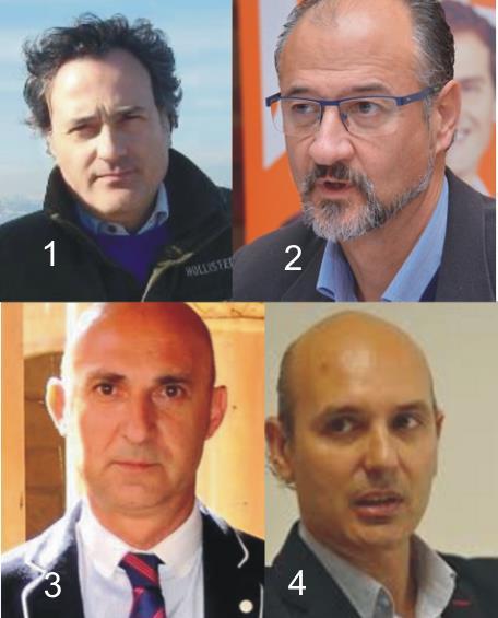 1. Miguel Ángel González;  2. Luis Fuentes;  3. Juan Carlos Fernández;  4. Sadat Maraña