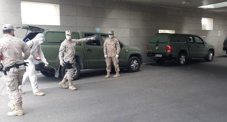 Despliegue de patrullas de Infantería de Marina en el Campo de Gibraltar. (Foto: https://noticiasgibraltar.es/)