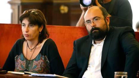 Victoria Rodríguez y Santiago Ordóñez, concejales de León en Común.