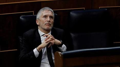 El ministro del Interior Fernando Grande Marlaska en el Congreso de los Diputados. (Foto: RTVE)