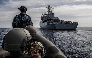 Fuerzas de la OTAN en el Mediterráneo. (Fuente: NATO).: