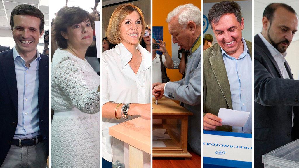 Candidatos a presidir el PP. (Foto: RTVE).