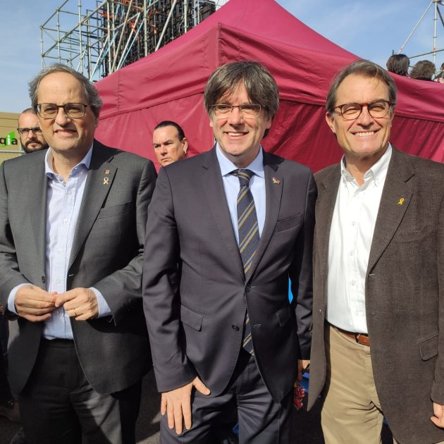 Torra, Puigdemont y Mas. (Foto: www.elnacional.cat)