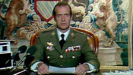 El Rey Juan Carlos I el 23-F. (Foto: RTVE).