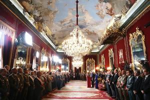 Los Reyes y la Pascua Militar. (Foto: Casa Real).