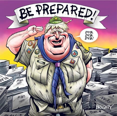 Caricatura de Boris Johnson publicada en The Sun.