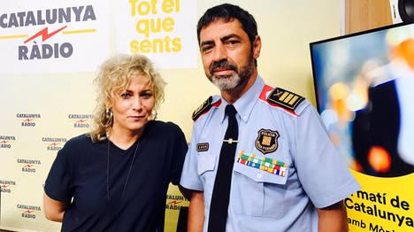 El jefe de la policía catalana José Luis Trapero  con el golpismo independentista