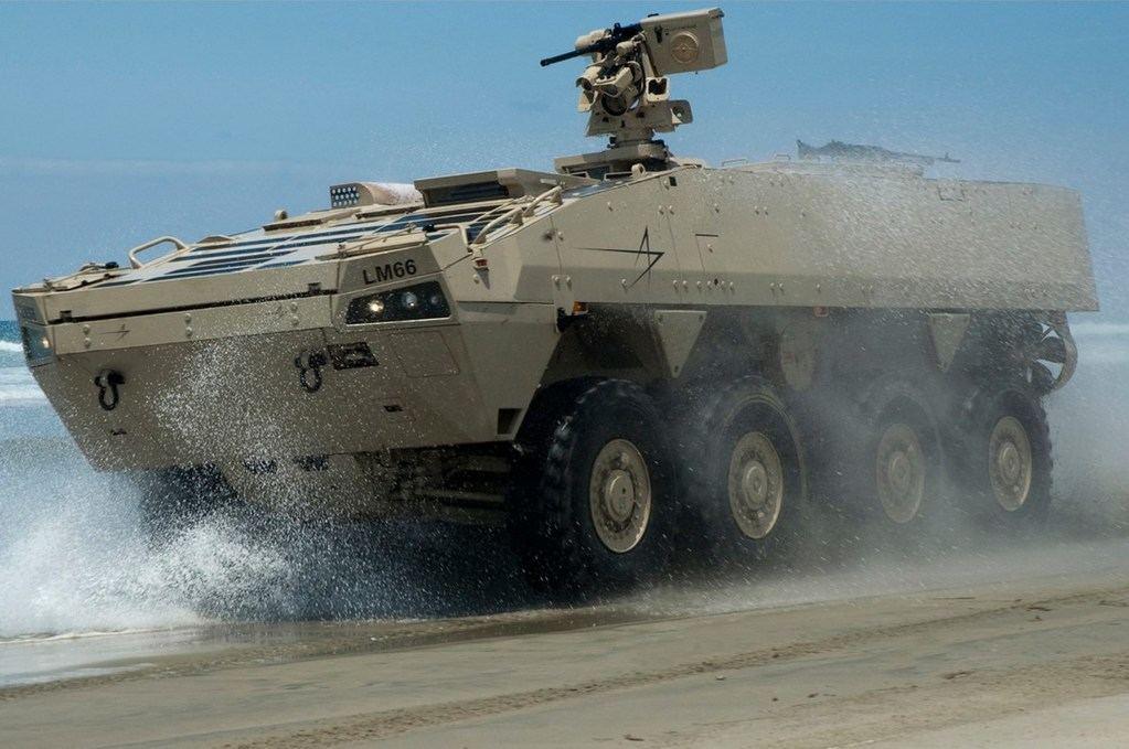 Los nuevos vehículos blindados 8X8 de de Lockheed Martin. (Foto: onemagazine.es)
