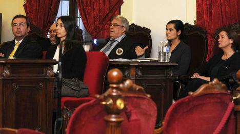 Las acusadas durante el juicio (EFE)